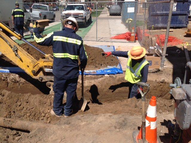 Underground plumbing excavation services